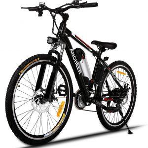 ANCHEER Bicicletta Elettrica Pieghevole da Montagna Ebike